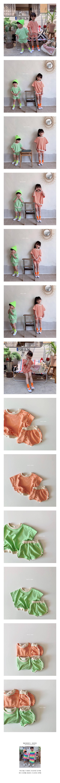 DAILY BEBE - Korean Children Fashion - #Kfashion4kids - Stripe Top Bottom Set