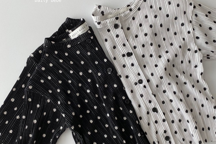 DAILY BEBE - BRAND - Korean Children Fashion - #Kfashion4kids - Pleats Cardigan