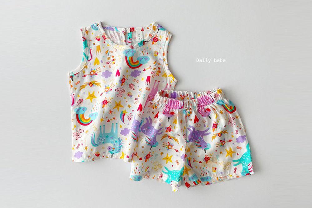 DAILY BEBE - BRAND - Korean Children Fashion - #Kfashion4kids - Rayon Print Set