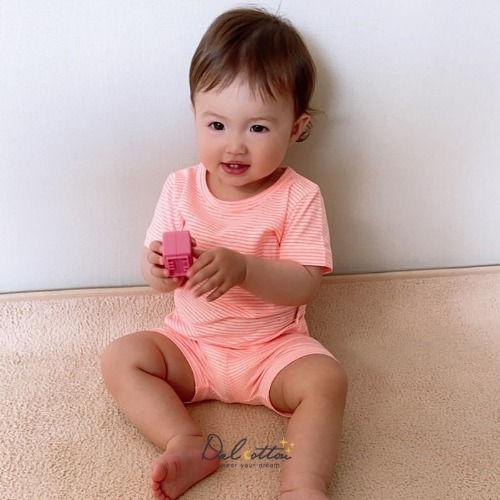 DAL COTTON - BRAND - Korean Children Fashion - #Kfashion4kids - Lemon Stripe Easywear