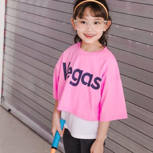 DORE DORE - BRAND - Korean Children Fashion - #Kfashion4kids - Vegas Sleeveless Tee Set