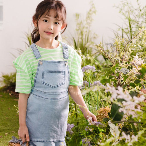DORE DORE - BRAND - Korean Children Fashion - #Kfashion4kids - Mermaid Denim One-piece