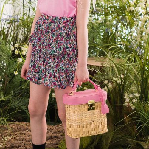 DORE DORE - BRAND - Korean Children Fashion - #Kfashion4kids - Floral Pleats Skirt Pants