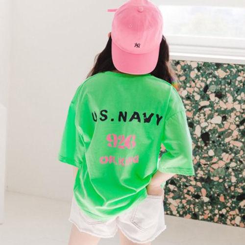 DORE DORE - BRAND - Korean Children Fashion - #Kfashion4kids - US Navy Tee