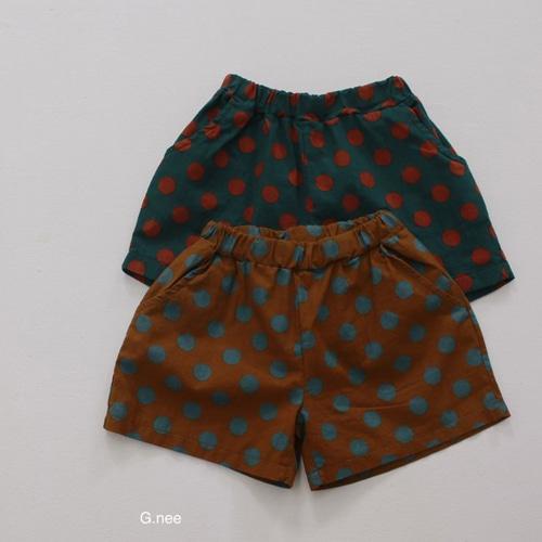 G.NEE - BRAND - Korean Children Fashion - #Kfashion4kids - Dot Shorts