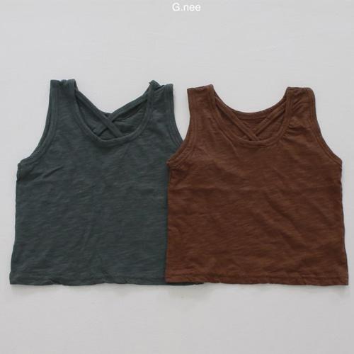 G.NEE - BRAND - Korean Children Fashion - #Kfashion4kids - Back X Sleeveless Tee