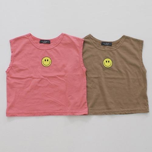 G.NEE - BRAND - Korean Children Fashion - #Kfashion4kids - Smile Sleeveless Tee