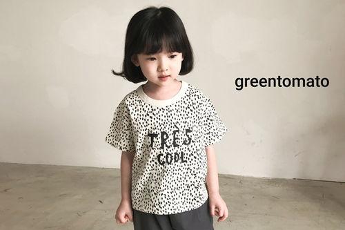 GREEN TOMATO - BRAND - Korean Children Fashion - #Kfashion4kids - Leopard Tee
