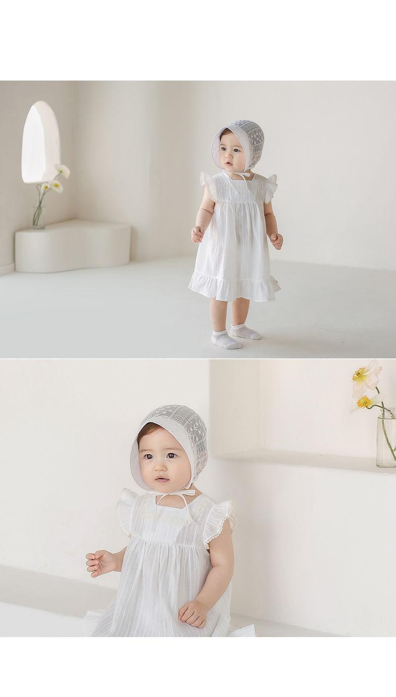 HAPPY PRINCE - Korean Children Fashion - #Kfashion4kids - Iris Baby Bonnet - 6
