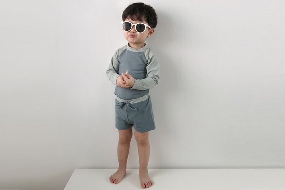 HERE I AM - BRAND - Korean Children Fashion - #Kfashion4kids - Banny Rashguard Short Swimwear