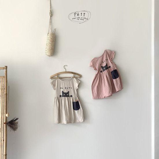 IKII - Korean Children Fashion - #Kfashion4kids - Cats One-piece