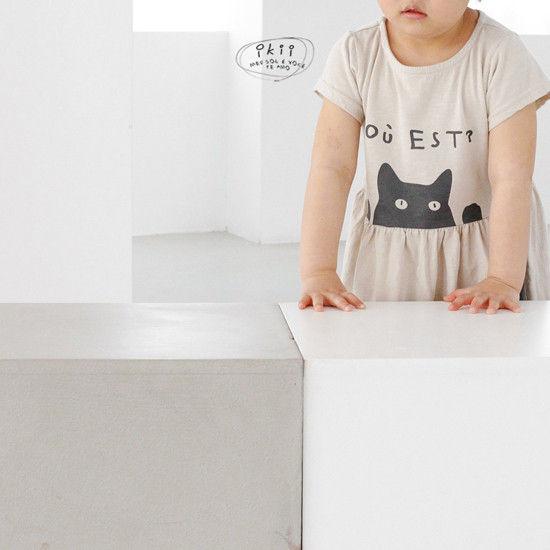 IKII - Korean Children Fashion - #Kfashion4kids - Cats One-piece - 11