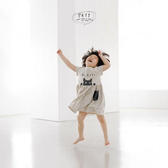 IKII - Korean Children Fashion - #Kfashion4kids - Cats One-piece - 12