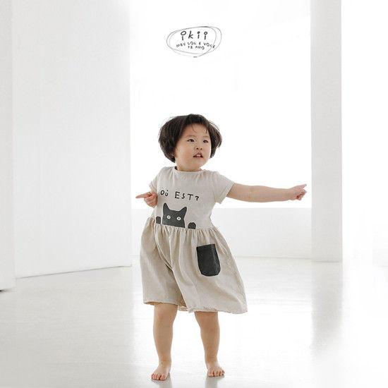 IKII - Korean Children Fashion - #Kfashion4kids - Cats One-piece - 4