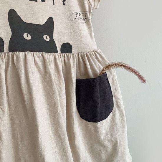 IKII - Korean Children Fashion - #Kfashion4kids - Cats One-piece - 6