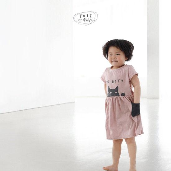 IKII - Korean Children Fashion - #Kfashion4kids - Cats One-piece - 7