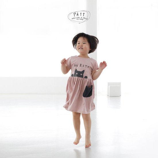 IKII - Korean Children Fashion - #Kfashion4kids - Cats One-piece - 9