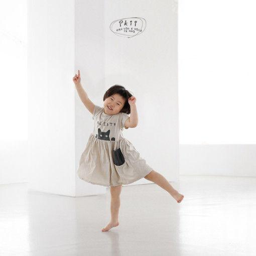 IKII - BRAND - Korean Children Fashion - #Kfashion4kids - Cats One-piece