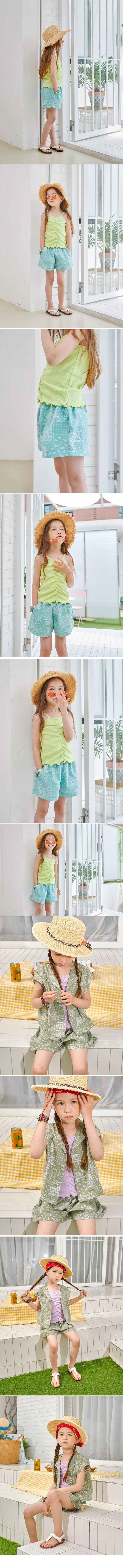 LILAS - Korean Children Fashion - #Kfashion4kids - String Sleeveless Tee - 2
