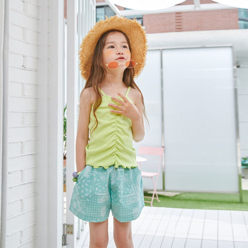 LILAS - BRAND - Korean Children Fashion - #Kfashion4kids - String Sleeveless Tee