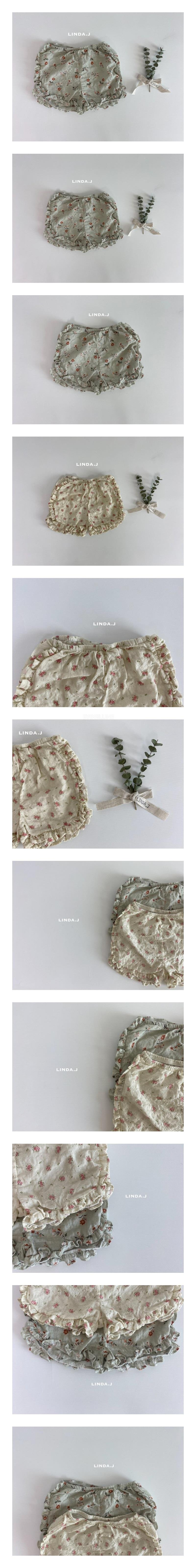 LINDA J - Korean Children Fashion - #Kfashion4kids - Flower Frill Shorts