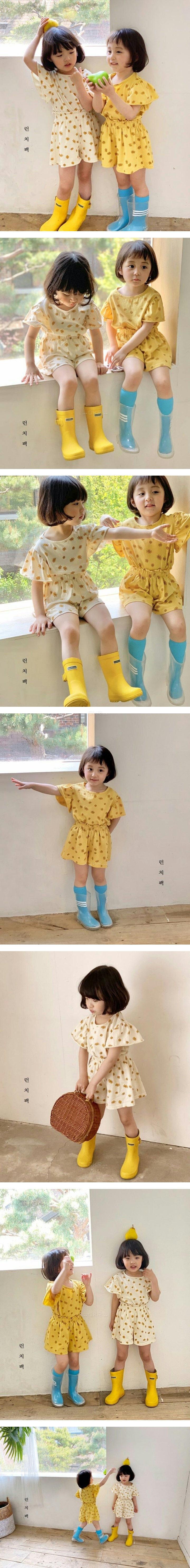 LUNCHPACK - Korean Children Fashion - #Kfashion4kids - Ringring Frill Top Bottom Set