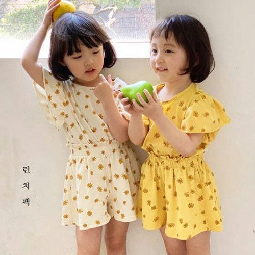 LUNCHPACK - BRAND - Korean Children Fashion - #Kfashion4kids - Ringring Frill Top Bottom Set