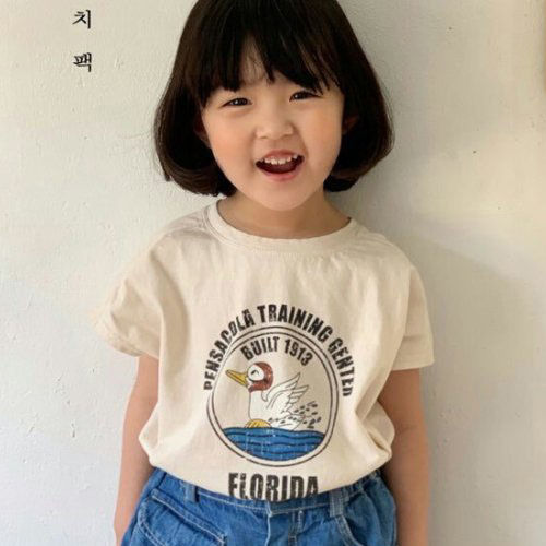LUNCHPACK - BRAND - Korean Children Fashion - #Kfashion4kids - Summer Duck Tee