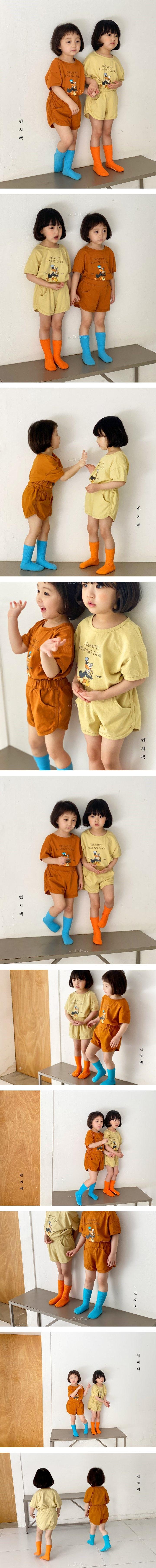 LUNCHPACK - Korean Children Fashion - #Kfashion4kids - Dudu Duck Top Bottom Set