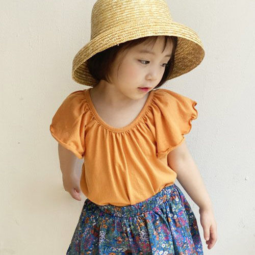 LUNCHPACK - BRAND - Korean Children Fashion - #Kfashion4kids - Frill Wing Sleeveless Top