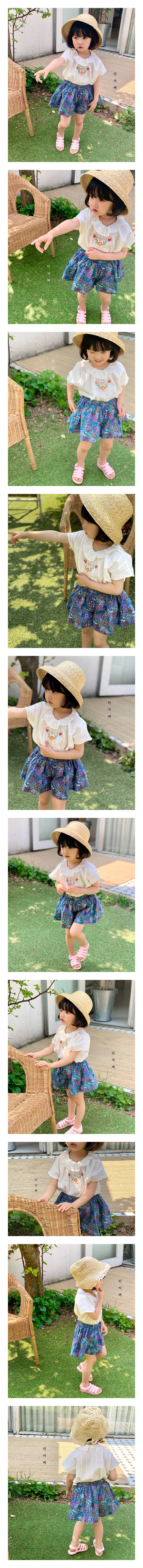 LUNCHPACK - Korean Children Fashion - #Kfashion4kids - Bibi Embroidery Blouse