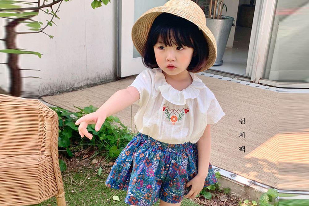 LUNCHPACK - BRAND - Korean Children Fashion - #Kfashion4kids - Bibi Embroidery Blouse