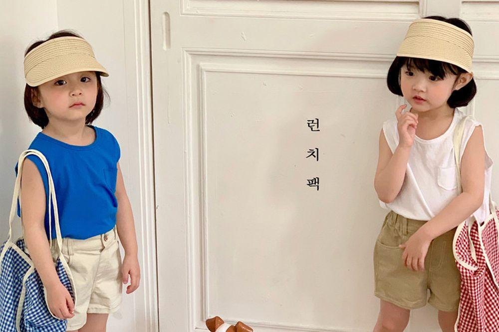 LUNCHPACK - BRAND - Korean Children Fashion - #Kfashion4kids - Pocket Sleeveless Tee