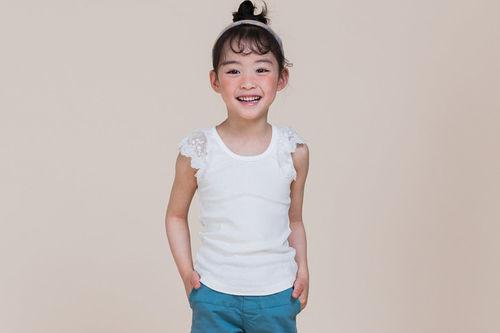 MILK POWDER - BRAND - Korean Children Fashion - #Kfashion4kids - Wing Lace Tee