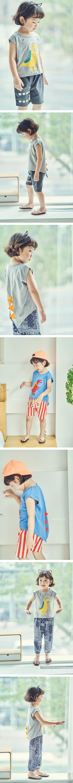 MIMICO - Korean Children Fashion - #Kfashion4kids - Dino Tee
