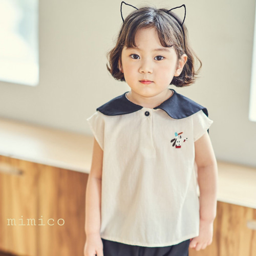 MIMICO - BRAND - Korean Children Fashion - #Kfashion4kids - Puppy Sailor Tee