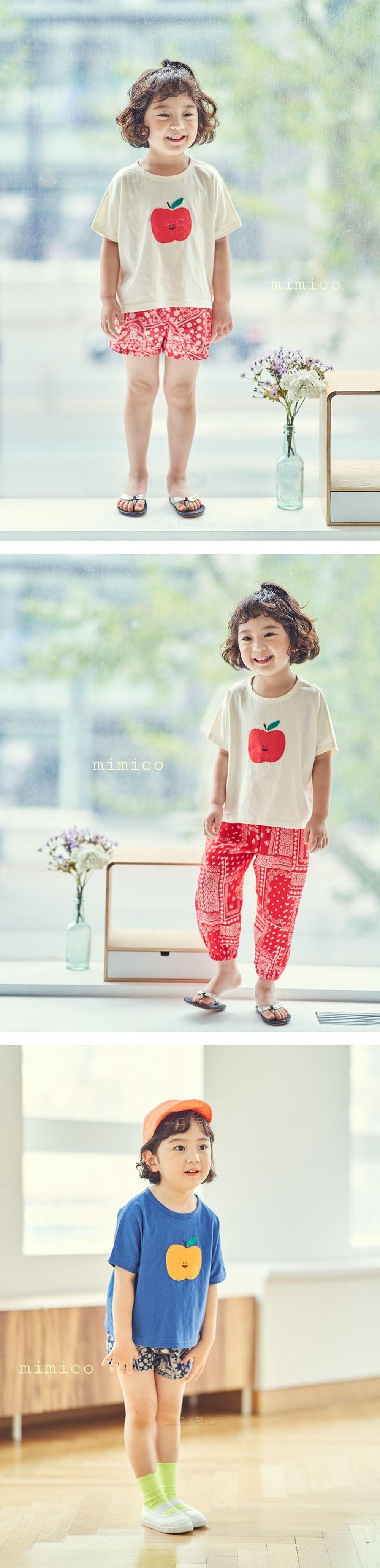 MIMICO - Korean Children Fashion - #Kfashion4kids - Apple Tee