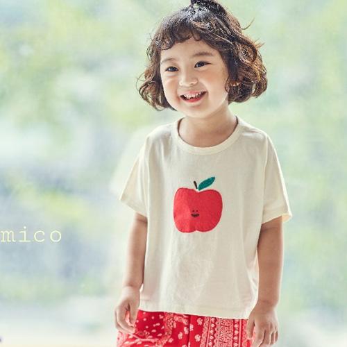MIMICO - BRAND - Korean Children Fashion - #Kfashion4kids - Apple Tee
