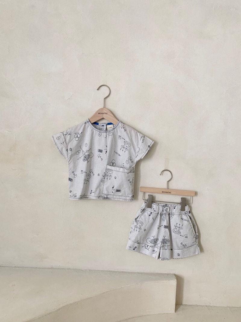 MONBEBE - Korean Children Fashion - #Kfashion4kids - Cool Top Bottom Set - 12