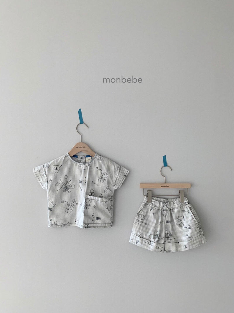 MONBEBE - Korean Children Fashion - #Kfashion4kids - Cool Top Bottom Set - 2