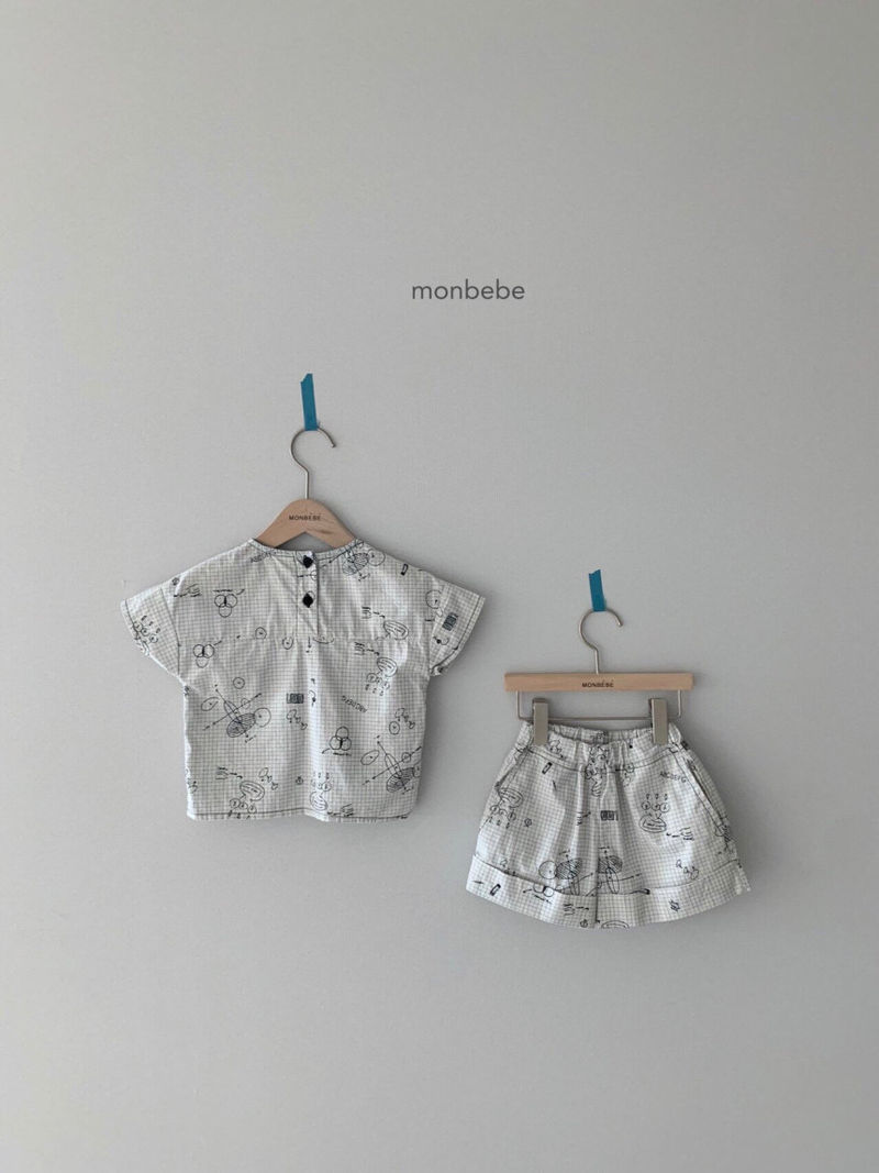 MONBEBE - Korean Children Fashion - #Kfashion4kids - Cool Top Bottom Set - 3