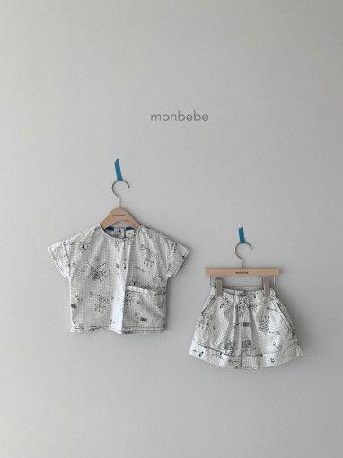 MONBEBE - BRAND - Korean Children Fashion - #Kfashion4kids - Cool Top Bottom Set