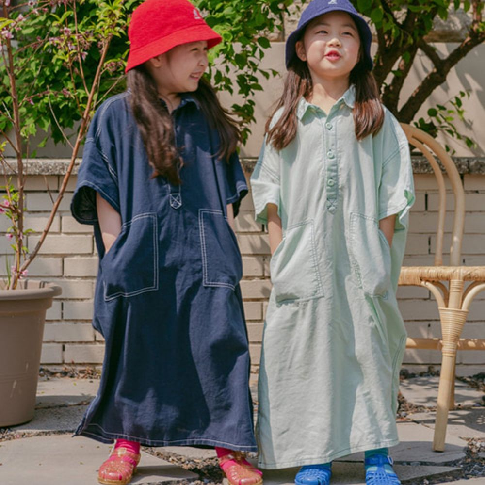 PEANUT - BRAND - Korean Children Fashion - #Kfashion4kids - Stitch One-piece