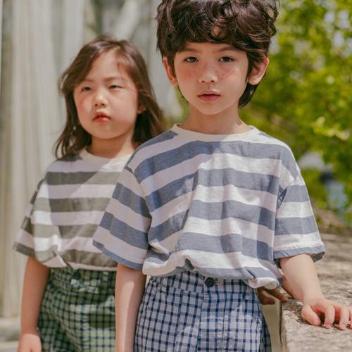 PEANUT - BRAND - Korean Children Fashion - #Kfashion4kids - Tom Stripe Tee