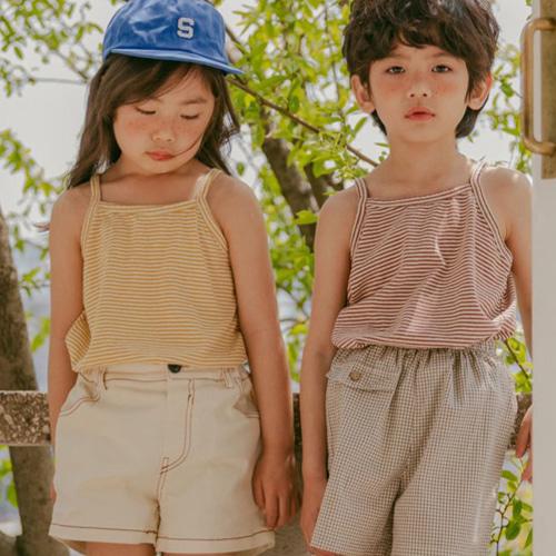PEANUT - BRAND - Korean Children Fashion - #Kfashion4kids - Jenny String Sleeveless Tee