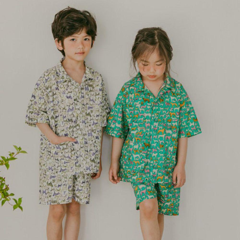PEANUT - BRAND - Korean Children Fashion - #Kfashion4kids - Puppy Top Bottom Set
