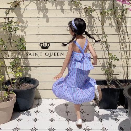 SAINT QUEEN - BRAND - Korean Children Fashion - #Kfashion4kids - Back Ribbon One-piece