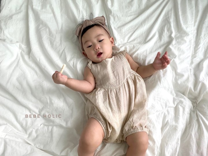 BEBE HOLIC - Korean Children Fashion - #Kfashion4kids - Linen Frill Bodysuit - 12