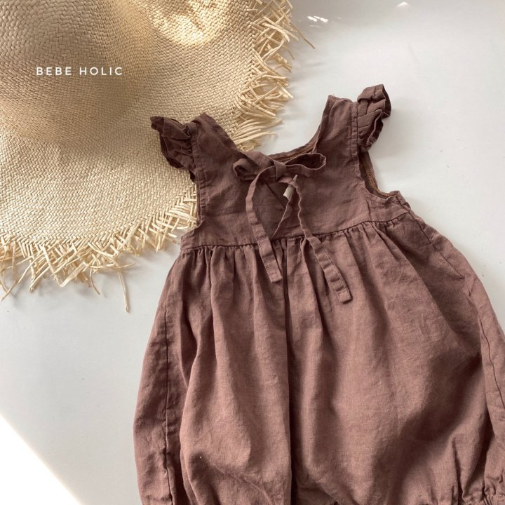 BEBE HOLIC - Korean Children Fashion - #Kfashion4kids - Linen Frill Bodysuit - 8