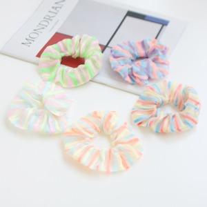JIREH BOW - BRAND - Korean Children Fashion - #Kfashion4kids - Neon Stripe Hairstring [set of 5]
